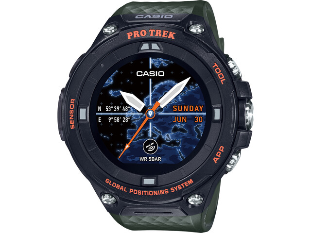 CASIO PRO TREK SMART WSD-F20A-GNBAE Smartwatch Herren green/black/grey